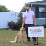 Joshua Whitney and Perspective Home Inspections Golden Retriever, Otto! Both love providing professional home inspections for Ocala, Marion, Gainesville, Lake, Sumter, and Citrus County!